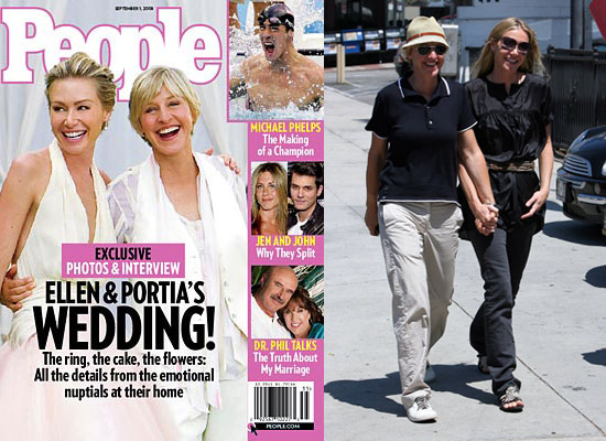 Ellen Degeneres And Portia Wedding Wedding Photography