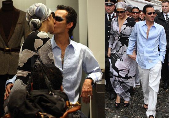 Jennifer Lopez Kissing Marc Anthony