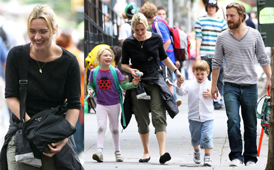 Photos of Kate Winslet and Her Kids Out in NYC   POPSUGAR ...
