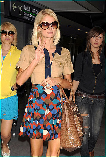 Paris Hilton in modified Marc by Marc Jacobs S/S 08