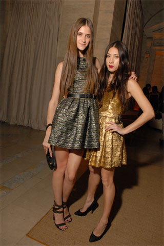 Daiane Conterato and Terry Richardson's Girlfriend, Jen Brill both in Proenza Schouler