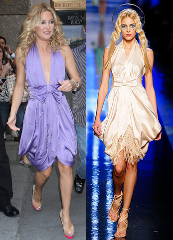 Kate Hudson in modified Jean Paul Gaultier Couture S/S 2007