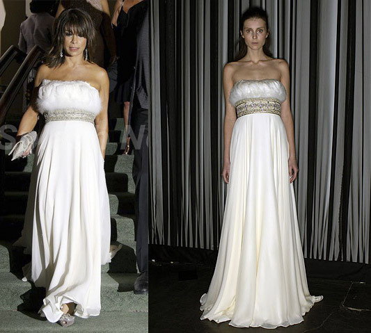 Paula Abdul in Marchesa F/W 2007
