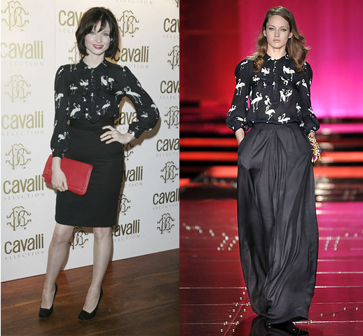 Sophie Ellis Bextor in Just Cavalli F/W 2008
