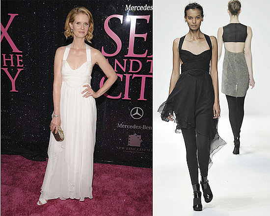 Cynthia Nixon in modified Narciso Rodriguez F/W 2008