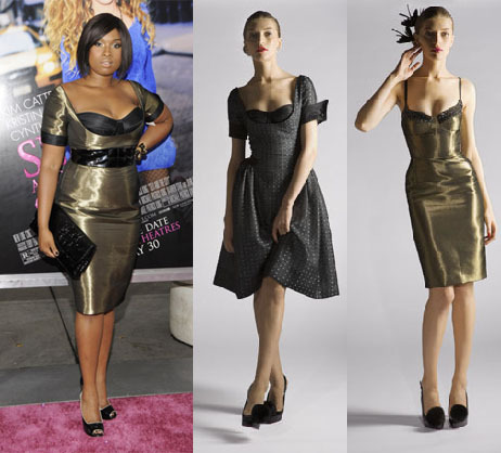 Jennifer Hudson in modified Peter Sororen F/W 2008