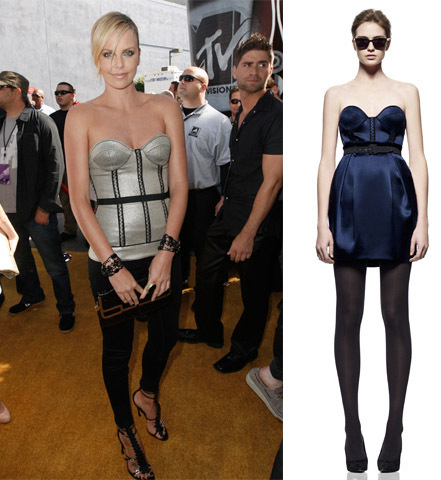 Charlize Theron in modified Proenza Schouler Pre-Fall 2008