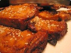 Baked sesame ginger tofu