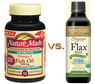Flaxseed  Fish  on Omega 3 Competition  Fish Oil Vs  Flaxseed Oil