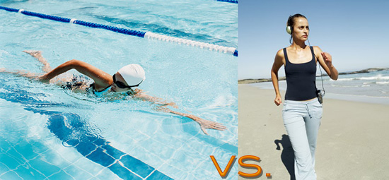 Swimming Vs Jogging Popsugar Fitness