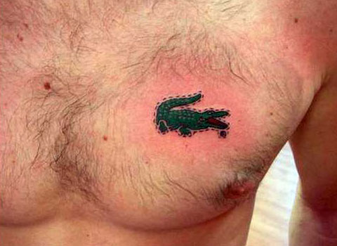 and+True+Tattoo+Expo+Advertising Lacoste Logo Tattoo