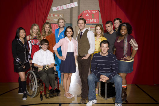 The cast of Glee, coming to Fox this fall