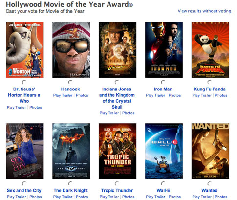 The best hollywood movie 2007