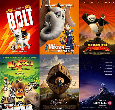 what is the best animated movie of 2008 popsugar