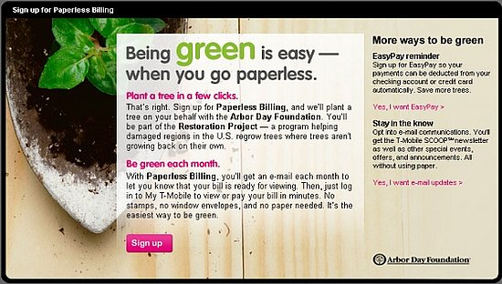 daily tech go paperless with t mobile to plant a tree popsugar tech. Black Bedroom Furniture Sets. Home Design Ideas