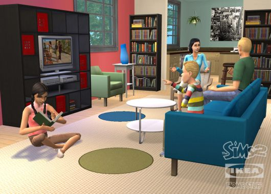 Ikea furniture in sims 2 game popsugar tech for Furniture you put together