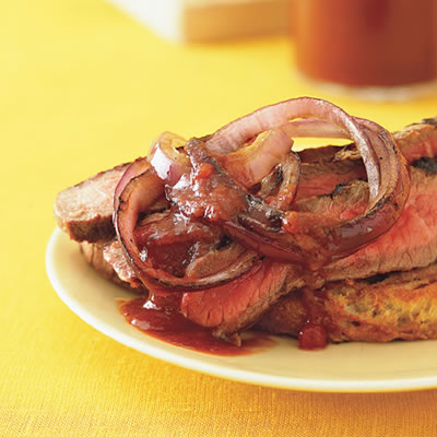 ... calls for cola, which adds a caramelized sweetness to the steak sauce