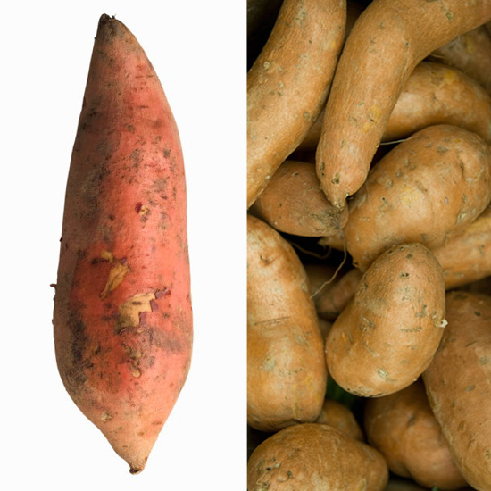 Sweet potatoes originate from South America, and come in two different