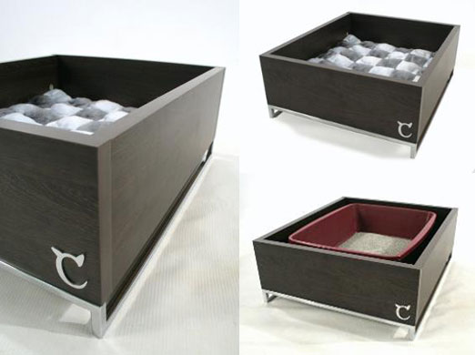 Chic litter bed combo from modern cat designs popsugar pets - Modern kitty litter box ...