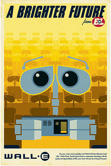 wall-e retro poster