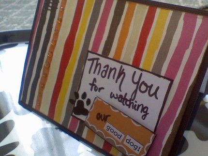 These cards are a cute way to say thanks with some handmade love. Although I