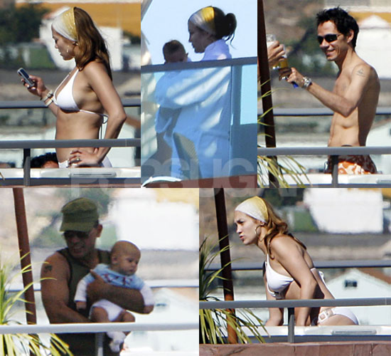 Jennifer Lopez Bikini Photos With Babies And Marc in Spain ...