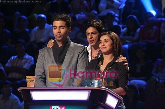 Karan Johar, Shahruck Khan and Rani Mukherjee