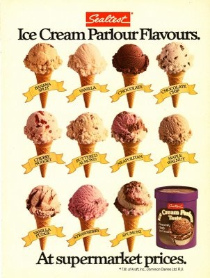 Match the Ice Cream Advertisement to Its Year of ...