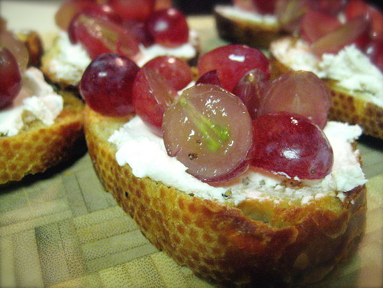 Killer App: Grape Goat Cheese Crostini | POPSUGAR Food