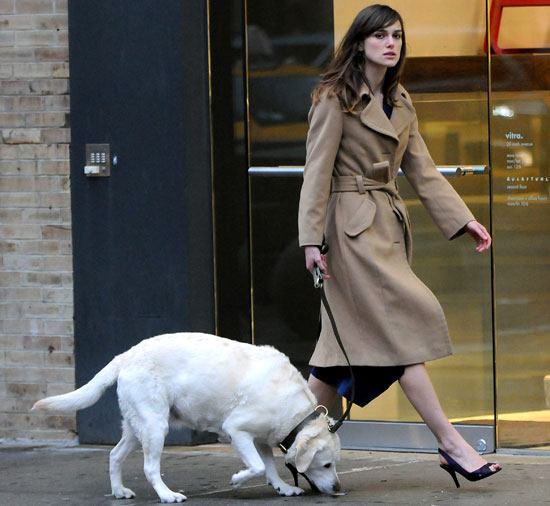 Photo of Keira Knightley & her Dog