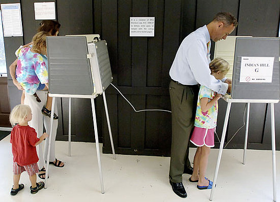 Taking kids to the polls to vote