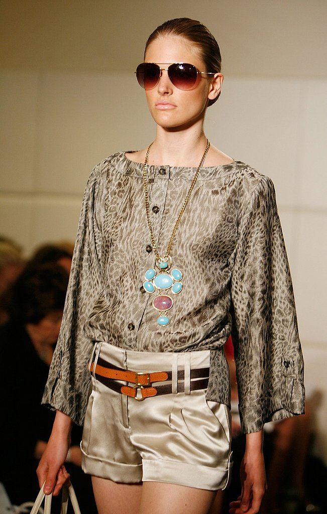 Badgley Mischka Resort 2009 Gallery | coutorture - :  blouse resort fashion shorts