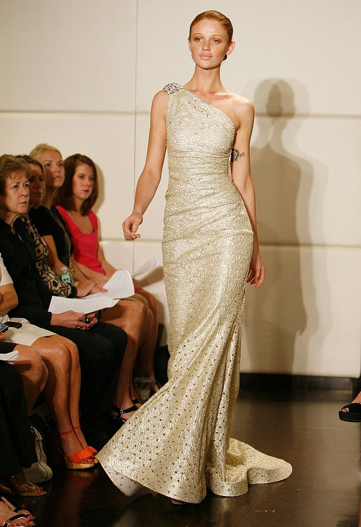 Badgley Mischka Resort 2009 Gallery | coutorture - :  coutorture gold off shoulder 2009