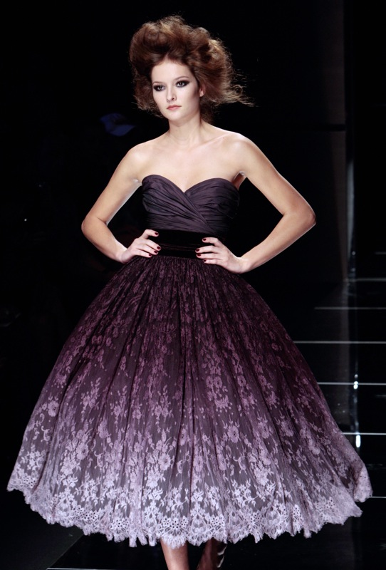 Elie Saab Haute Couture Gallery | coutorture - :  ellie saab fashion purple 2009
