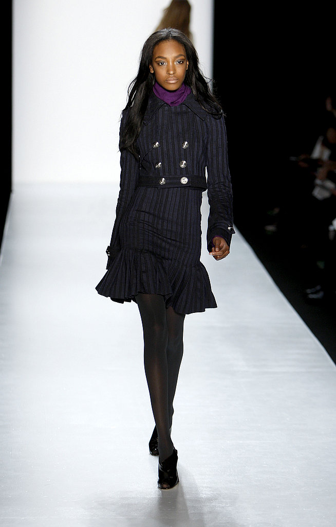 2009: Skirt Suits Gallery | coutorture - :  striped blue fashion navy