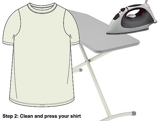 Press your shirt to remove any wrinkles.