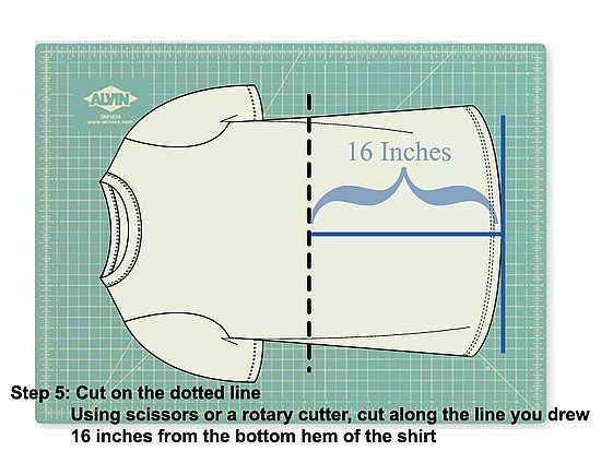 Cut along the line you just drew using scissors or a rotary tool.