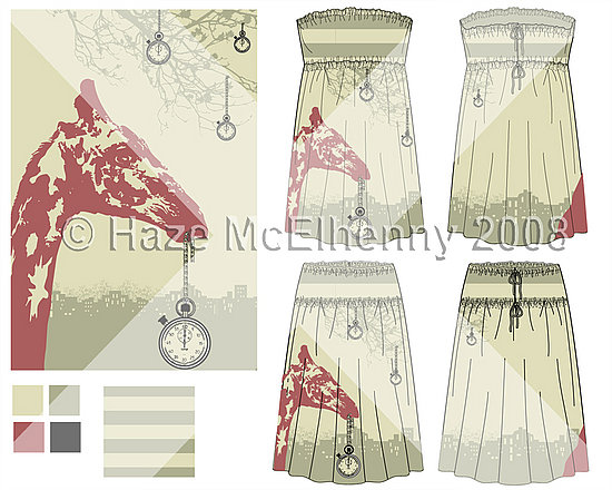 Poly-Morphic Dress/Skirt: Fueled by Time: Line Sheet © Haze McElhenny 2008