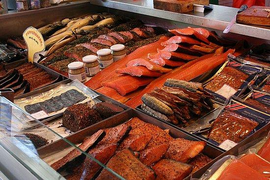 Savory sight norwegian fish market popsugar food for Pops fish market