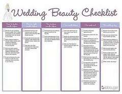 Wedding beauty planner