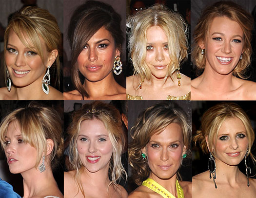 red-carpet event. Below are eight messy updos from some