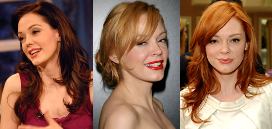 As far as hair color goes, I'm totally partial to red hair over blonde.