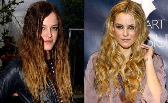 two toned hairstyles. I'm used to seeing Riley's hair colored in a more two-toned manner,