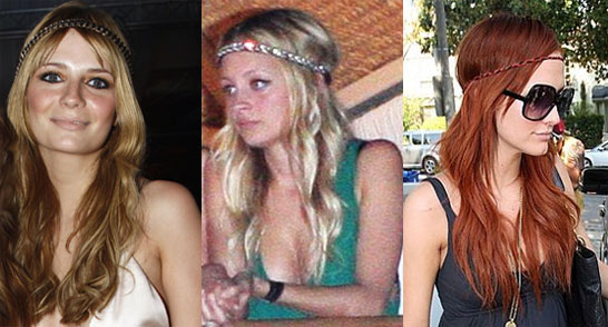 Trend Alert: The Horizontal Hippie Headband Hairstyle