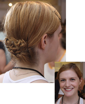 Everyone has a few quick, two-minute hairstyles that we throw together when