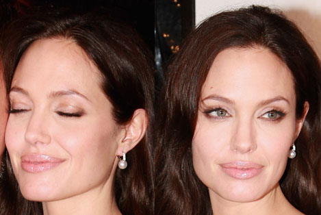 To achieve Angelina's sultry eye makeup on the cheap — using a cool new
