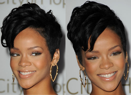 Astounding Rihanna Short Hairstyles Back And Front Hairstyle Inspiration Daily Dogsangcom