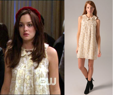 Trina Turk Dress on This Sweetly Glam Metallic Brocade Dress That Blair Wore In    Roman