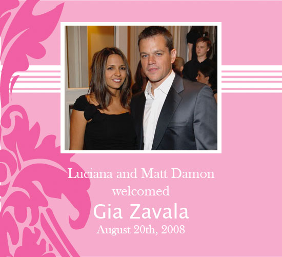 luciana damon pregnant. Matt and Luciana Damon welcome