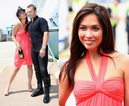 Photos Of Myleene Klass Christening The Carnival Splendour Cruise Ship ...